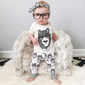 2 Piece Cute & Cool Baby Bear
